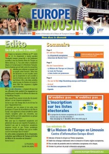 Page 1 Europe Limousin n°13