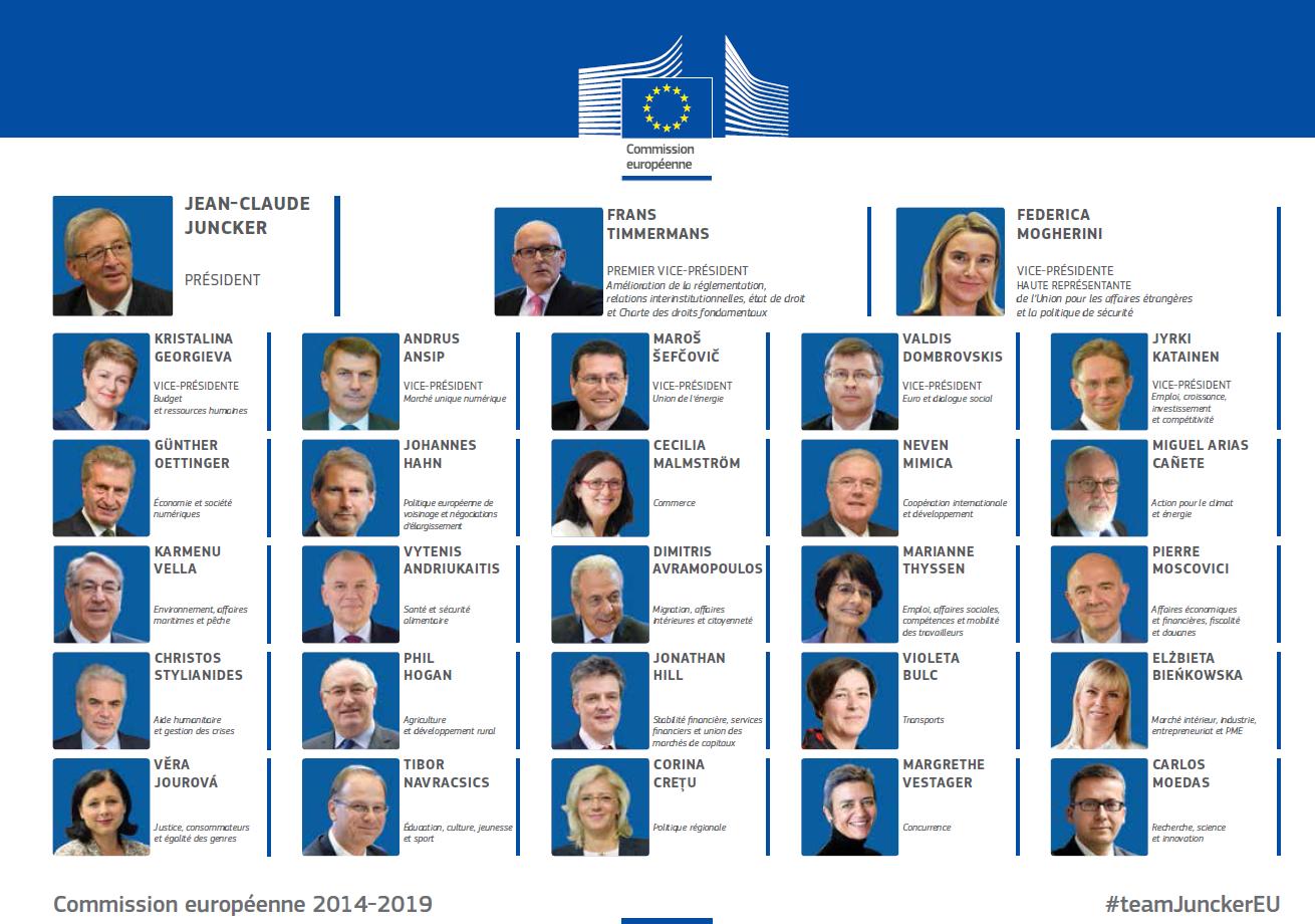 """Résultat de recherche d'images pour """"commission européenne 2014-2019 organigramme"""""""