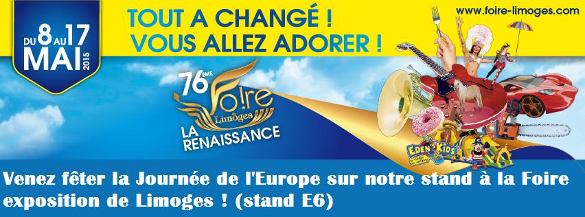 Venez f ter la journ e de l europe la foire exposition for Foire expo limoges tarif