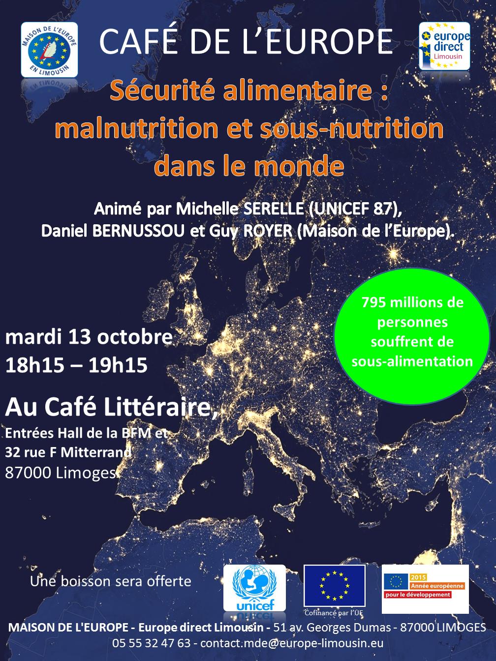 Caf de l europe s curit alimentaire malnutrition et for Maison dans le monde